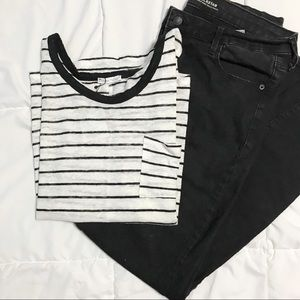 Zara Striped Linen Pocket Tank